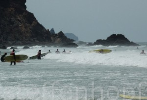 Algarve – Surfer am Strand