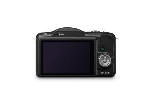 Panasonic Lumix DMC-GF3 - schwarz, von hinten mit Display (Bild: Panasonic)