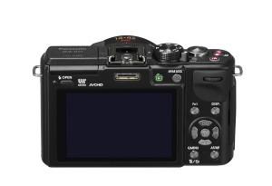 Panasonic Lumix DMC-GX1 - schwarz, von hinten oben (Bild: Panasonic)