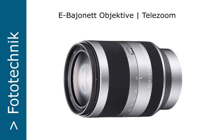 Sony Nex E-Objektive Telezoom