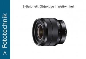 Sony Nex E-Objektive Weitwinkel
