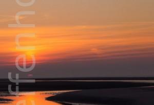 Wattenmeer - Sonnenuntergang