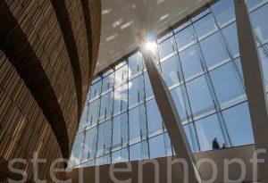 Oslo - Opernhaus, Blick nach Außen