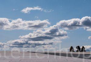 Oslo - Opernhaus Dach, Wolkenspiel
