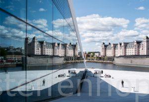 Oslo - Opernhaus, Spiegelung