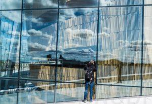 Oslo - Opernhaus Spiegelungen