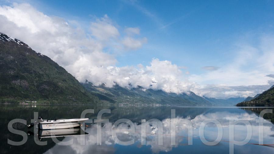 Boot auf dem Sorfjord