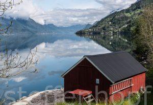 Fischerhütte am Sorfjord