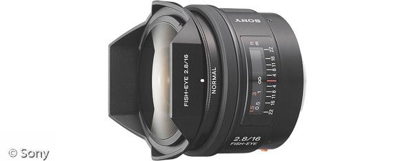Sony 16 mm F2,8 Fischaugenobjektiv (Bild: Sony)