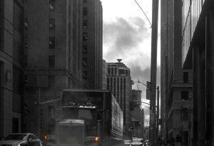 In den Straßen von Toronto (sw)