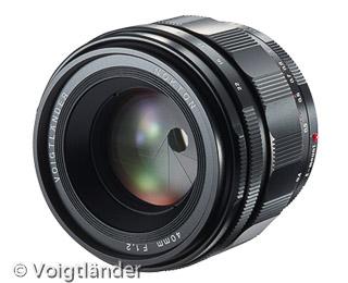 Voigtländer 40 mm / F2 Nokton (Bild: Voigtländer)