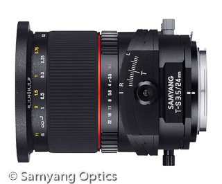 Samyang 24mm F3.5 ED AS UMC Tilt-Shift (Bild: Samyang)