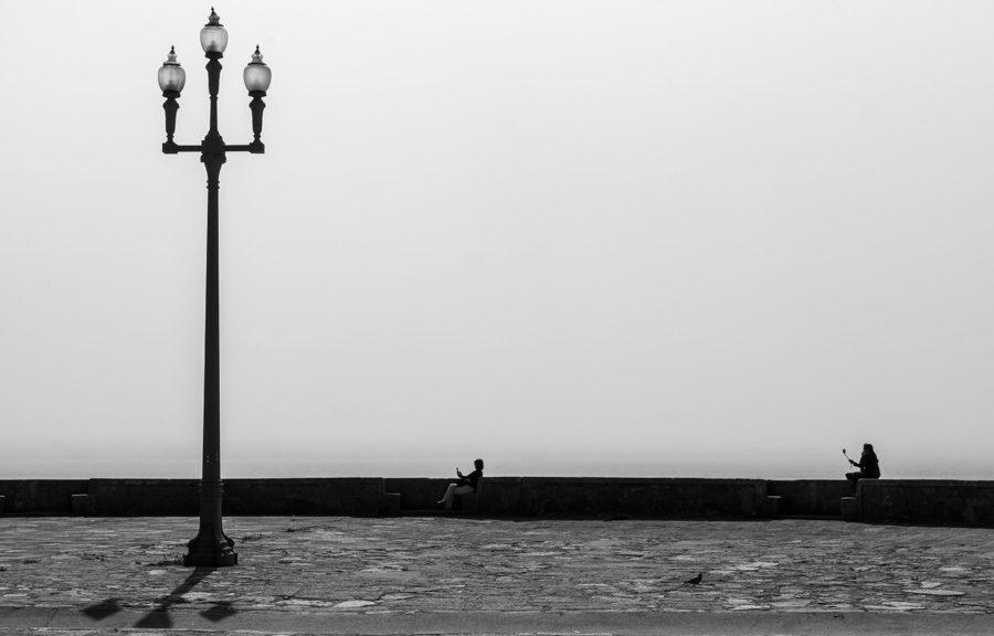 Ein Selfie am Meer