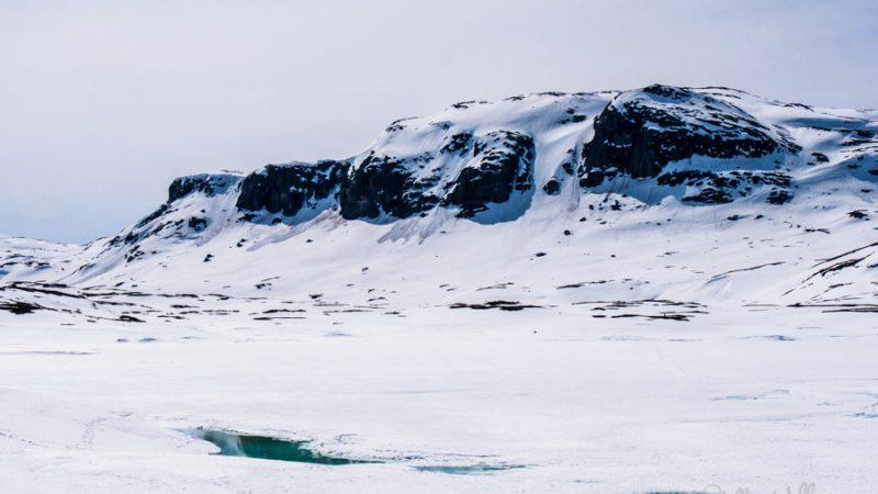 Gefrorener See in Norwegen