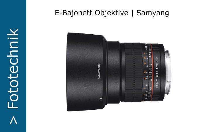 Samyang - E-Bajonett