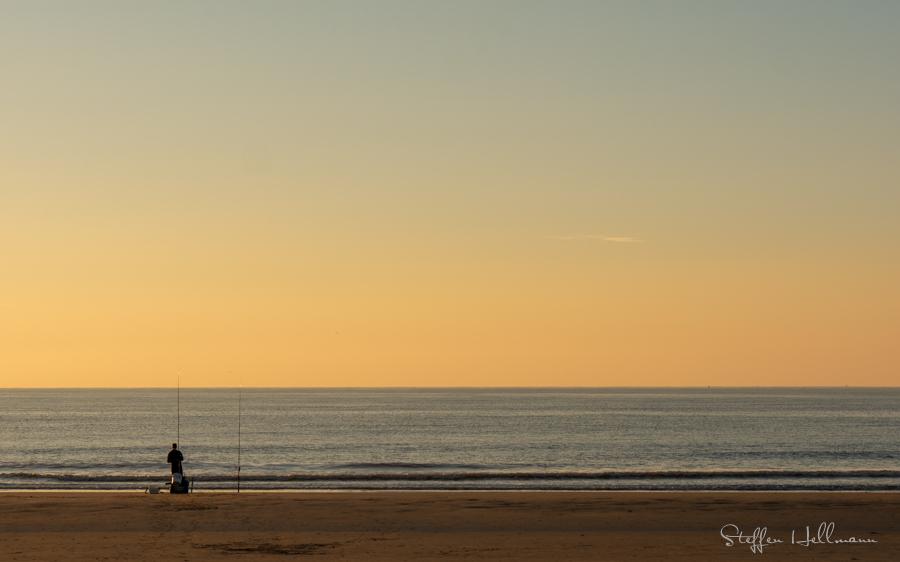 Fischer an der Nordsee