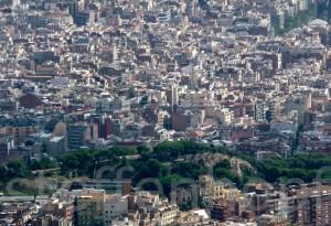 Barcelona von oben von Steffen Hopf.