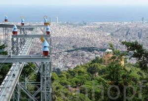 Blick über die Stadt vom Tibidabo von Steffen Hopf