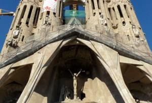 Die Passionsfassade der Sagrada Familia von Steffen Hopf.