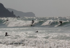 Algarve – Surfer an der Praia do Amado
