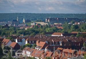 Erfurt - Stadtblick mit Dom und Petersberg sowie dem Steigerwald von Steffen Hopf