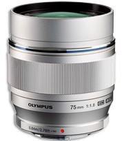 M.Zuiko Digital ED 75mm von Olympus (Bild: Olympus)