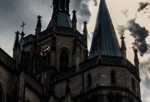 Erfurter Domberg - Dom St. Marien Nord- und Mittelturm von Steffen Hopf