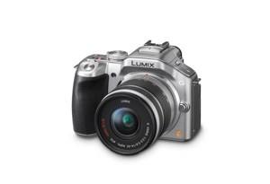 Panasonic Lumix G5 - seitliche Aufnahme von oben in Silber (Bild: Panasonic)