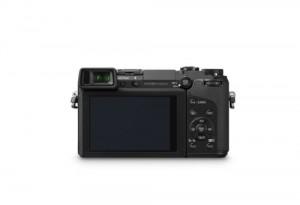 Panasonic Lumix DMC-GX7 - von hinten in schwarz (Bild: Panasonic)