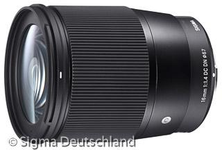 Sigma 16mm F1.4 DC DN C (Bild: Sigma)